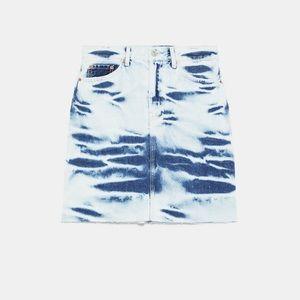 Zara Skirts - NWT • Zara • Premium Tie-Dye Skirt